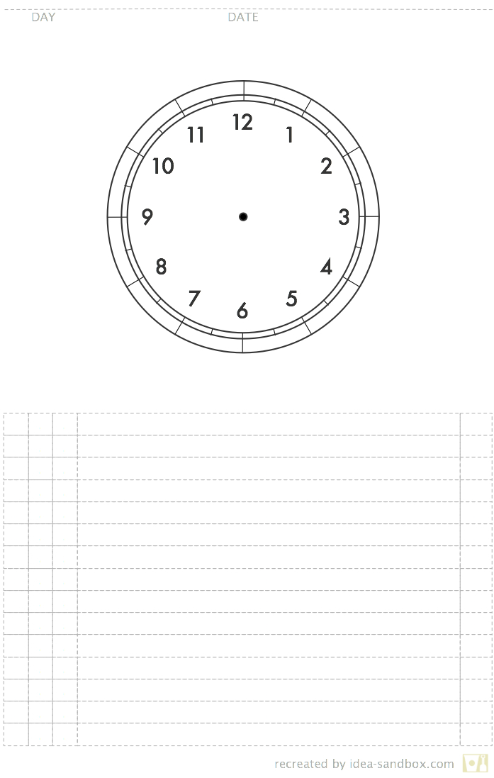 Circle Of Time Planner | Idea Sandbox