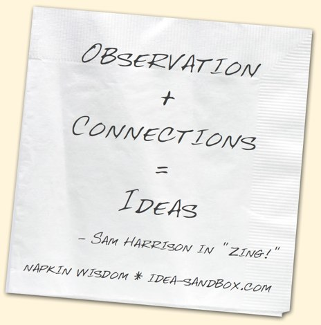 Observation + Connections = Ideas
